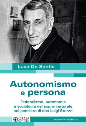 Copertina del libro Autonomismo e persona