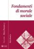 Copertina del libro Fondamenti di morale sociale